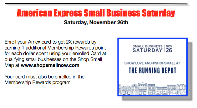 Shop Small Bus Saay – Sat 11/26 | The Running Depot News on map games, map jewelry, map books, map services,