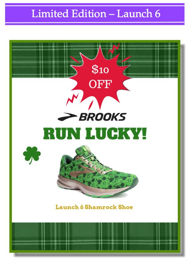 Brooks Launch 6 Shamrock Shoe
